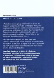 Amerique M'Inquiete (L') - 4ème de couverture - Format classique