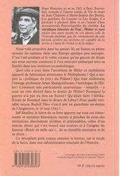 Veridique Histoire De Pap4hitler Et Moi - 4ème de couverture - Format classique