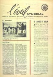 Eveil Syndical (L') N°139 du 01/10/1962 - Couverture - Format classique
