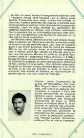 Enseignement Superieur En Afrique Noire Francophone.. - 4ème de couverture - Format classique