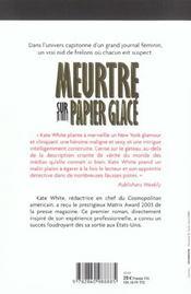 Meurtre Sur Papier Glace - 4ème de couverture - Format classique