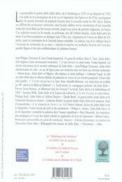 Zadoc Kahn - 4ème de couverture - Format classique