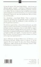 Le bienfaiteur ; jean-claude romand une mythomanie - 4ème de couverture - Format classique