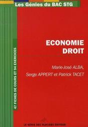 Les génies du bac stg ; économie droit - Intérieur - Format classique