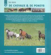 Races de chevaux et poneys (les) - 4ème de couverture - Format classique
