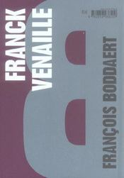 Franck Venaille ; je revendique tous les droits - 4ème de couverture - Format classique