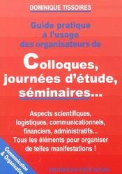 Guide pratique a l'usage des organisateurs de colloques, journees d'etude, seminaires... - Intérieur - Format classique
