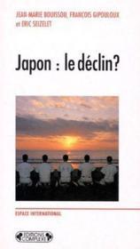 Japon : le déclin ? - Couverture - Format classique
