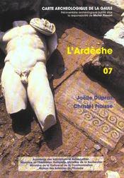 Carte Archeologique De La Gaule T.07 ; L'Ardèche - Intérieur - Format classique