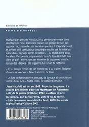 Guerre Au Bord Du Fleuve (La) - 4ème de couverture - Format classique