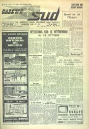 Gazette Sud N°445 du 15/10/1962 - Couverture - Format classique