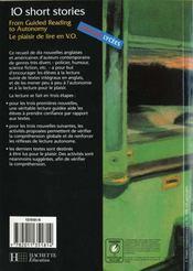 10 Short Stories Volume 1 - Anglais - Livre De L'Eleve - Edition 2000 - 4ème de couverture - Format classique