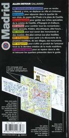Madrid - 4ème de couverture - Format classique