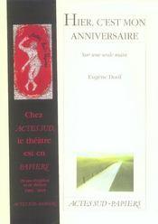 Hier, C'Est Mon Anniversaire - Intérieur - Format classique