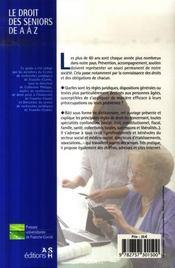 Droit Seniors De A A Z - 4ème de couverture - Format classique