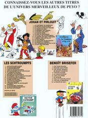 Johan et Pirlouit t.16 ; la nuit des sorciers - 4ème de couverture - Format classique