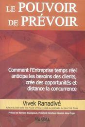 Le Pouvoir De Prevoir - Intérieur - Format classique