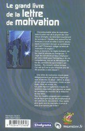 Le grand livre de la lettre de motivation - 4ème de couverture - Format classique