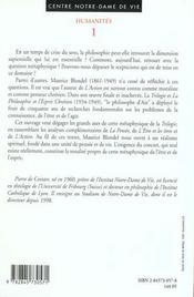 Maurice Blondel - Un Realisme Spirituel - 4ème de couverture - Format classique