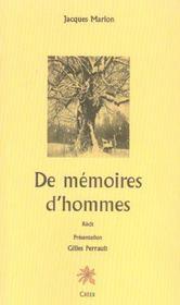De mémoire d'hommes - Intérieur - Format classique