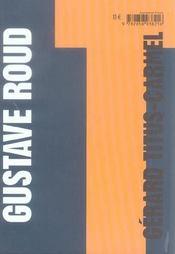 Gustave Roud ; une solitude dans les saisons - 4ème de couverture - Format classique