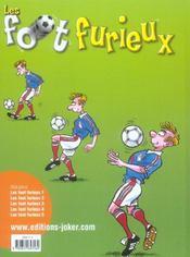 Les foot furieux t.5 - 4ème de couverture - Format classique