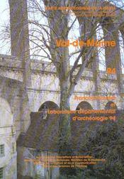 Carte Archeologique De La Gaule T.94 ; Val-De-Marne - Intérieur - Format classique