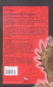 Silence Du Dragon - 4ème de couverture - Format classique