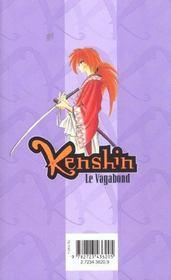 Kenshin le vagabond t.23 ; la conscience du crime et du châtiment - 4ème de couverture - Format classique