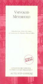 Vsevolod Meyerhold Mettre En Scene - Intérieur - Format classique