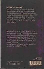 Retour Au Magena - 4ème de couverture - Format classique