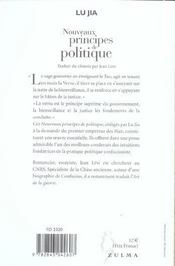Nouveaux Principes De Politique - 4ème de couverture - Format classique