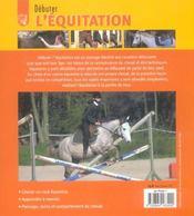 Debuter L Equitation - 4ème de couverture - Format classique
