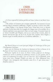 Oser L'Aventure Interieure - 4ème de couverture - Format classique