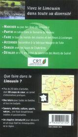 Que faire dans le Limousin ? - 4ème de couverture - Format classique