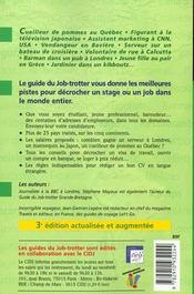Le Guide Du Job Trotter Dans Le Monde - 4ème de couverture - Format classique