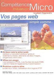 Competence Micro ; Vos Pages Web - Couverture - Format classique