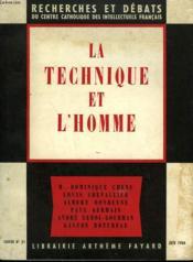 La Technique Et L'Homme. Recherches Et Debats N° 31. - Couverture - Format classique