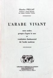 L'arabe vivant - Couverture - Format classique