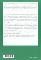 15 Problemes De Mecanique 1re Annee Mpsi-Pcsi-Ptsi Problemes Corriges Classes Prepas Scientifiques - 4ème de couverture - Format classique