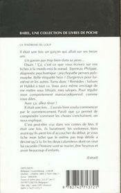 La Tendresse Du Loup Babel 282 - 4ème de couverture - Format classique
