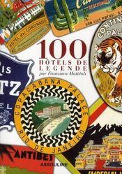 100 hôtels de légende - Intérieur - Format classique