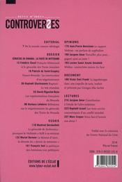 Controverses N.6 ; Le Génocide Des Tutsis En 1994 - 4ème de couverture - Format classique