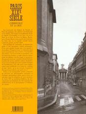 Paris Xix° Siecle L'Immeuble Et La Rue - 4ème de couverture - Format classique