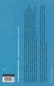Le Depistage Du Divorce - 4ème de couverture - Format classique