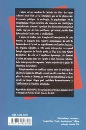 L'Utopie - 4ème de couverture - Format classique