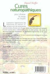 Cures Naturopathiques - 4ème de couverture - Format classique