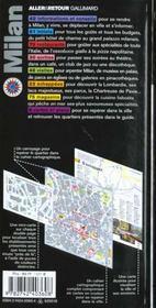Milan - 4ème de couverture - Format classique