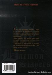 Daemon Slayers - 4ème de couverture - Format classique