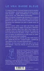 Le Vrai Barbe Bleue - 4ème de couverture - Format classique